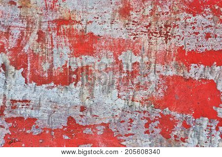 Very Damaged Old Metal Texture With Traces Of Paint