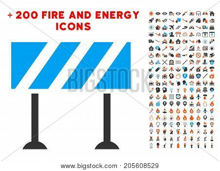 Barrier icon with bonus energy clip art. Vector illustration style is flat iconic symbols for web design, app ui.