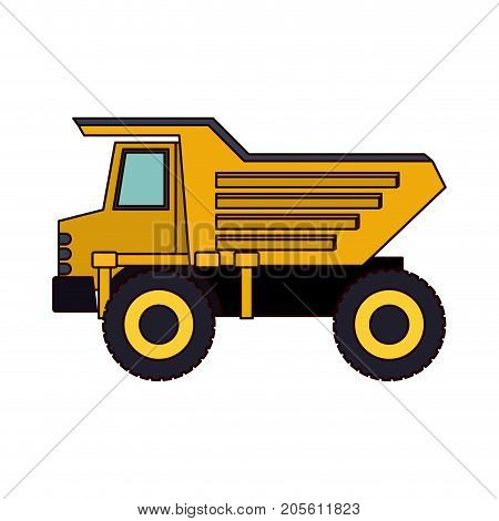 dump truck flat icon colorful silhouette vector illustration