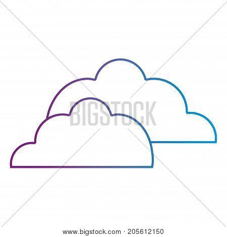 line nice clouds natural weather design vector illustration
