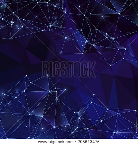 Triangular polygon abstract vector backdrop. Modern digital crystals background with diamond texture. Illustration of pattern triangular, background geometric polygonal