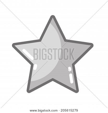 grayscale rating star symbol and element status vector illustration