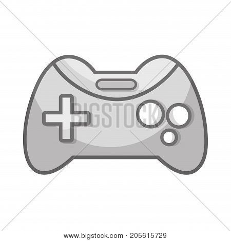 grayscale videogame console technology object to play vector illustration poster