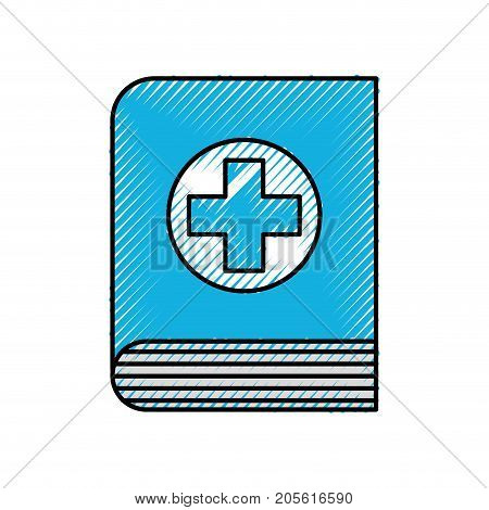 medical book science literature healthcare icon vector illustration