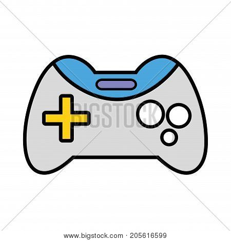 videogame console technology object to play vector illustration