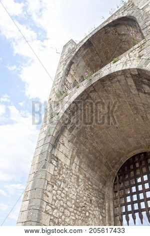 Portcullis Of A Gate Made Of Stone, Besalú, Spain