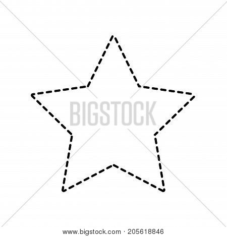 dotted shape rating star symbol and element status vector illustration