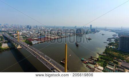 Aerial Skyline Express Way, Bangkok