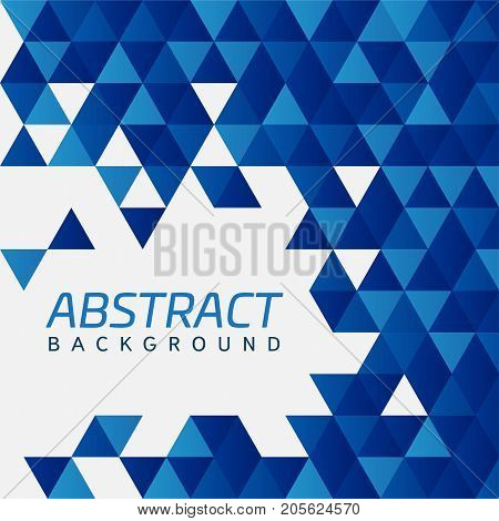 Abstract vector background with blue modern geometric shapes intersecting. triangles. Techno design. Technology and Future.