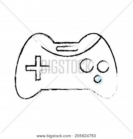 figure videogame console technology object to play vector illustration