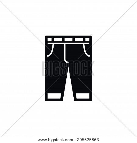 Trousers Vector Element Can Be Used For Pants, Trousers, Breeches Design Concept.  Isolated Pants Icon.