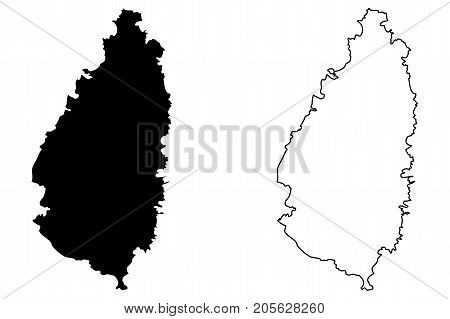 Saint Lucia island map vector illustration , scribble sketch Saint Lucia