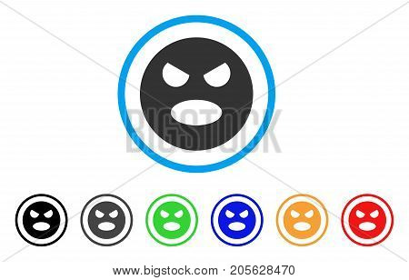 Scream Smiley icon. Vector illustration style is a flat iconic scream smiley symbol with black, gray, green, blue, red, orange color versions. Designed for web and software interfaces.