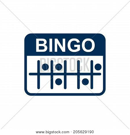 Vector Lotto Element In Trendy Style.  Isolated Bingo Icon Symbol On Clean Background.