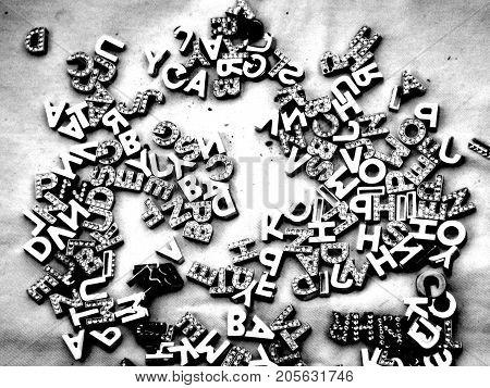 Jumbled words describing a garbled thought process