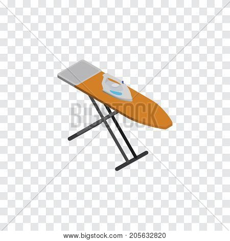 Cloth Iron  Vector Element Can Be Used For Ironing, Board, Cloth Design Concept.  Isolated Ironing Board Isometric.
