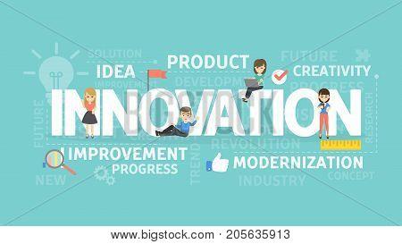 Innovation concept illustration. Idea of creativity, improvement and ideas.
