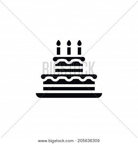 Pastry Vector Element Can Be Used For Birthday, Pastry, Cake Design Concept.  Isolated Birthday Icon.