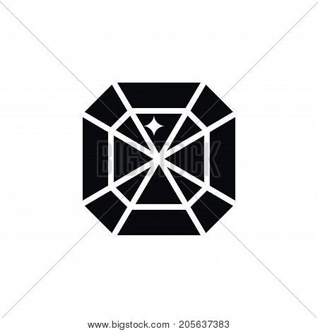 Crystal Vector Element Can Be Used For Gem, Crystal, Carat Design Concept.  Isolated Gem Icon.