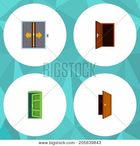 Flat Icon Approach Set Of Entry, Frame, Approach And Other Vector Objects