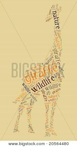 Wordcloud of giraffe