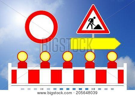 Construction Area Forbidden Way and alternative Way