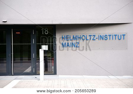 MAINZ, GERMANY - OCTOBER 24: The newly established Hemholtz Institute for Physical Nuclear Research on the grounds of the Johannes Gutenberg University on October 24 2017 in Mainz.
