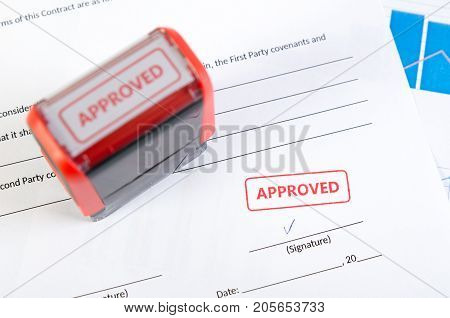 Automatic Stamp On The Contract Document