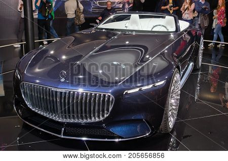 Frankfurt-September 20: Vision Mercedes-Maybach 6 Cabriolet at the Frankfurt International Motor Show on September 20 2017 in Frankfurt
