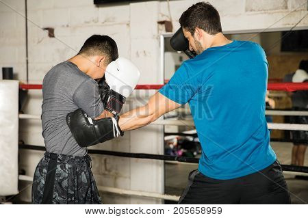 Male Boxer Throwing A Punch