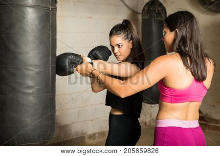 Woman And Coach Training