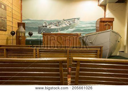 Chapel In John W Brown Wwii Liberty Ship