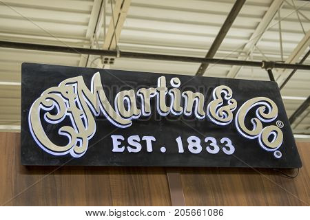 C. F. Martin Guitar Logo Sign In Factory