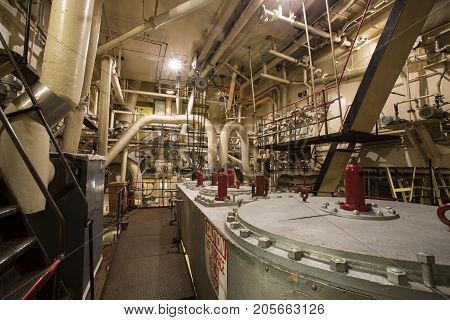 Steam Engine Room Equipment  In Liberty Ship