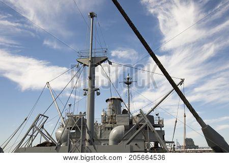 Flying Bridge On Wwii Liberty Ship