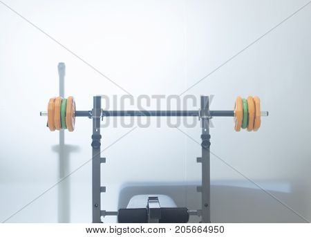Barbell Weights Training Bench
