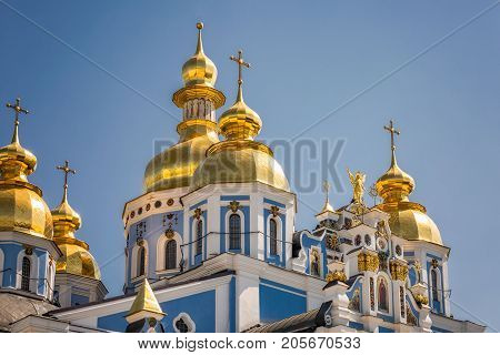 Reconstructed St. Michael's Golden-Domed Monastery at Kiev, Ukraine.