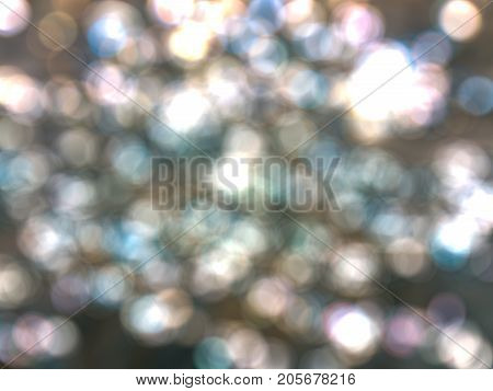 Abstract bokeh whit color effect for texture background