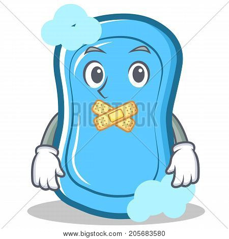 Silent blue soap character cartoon vector illustration