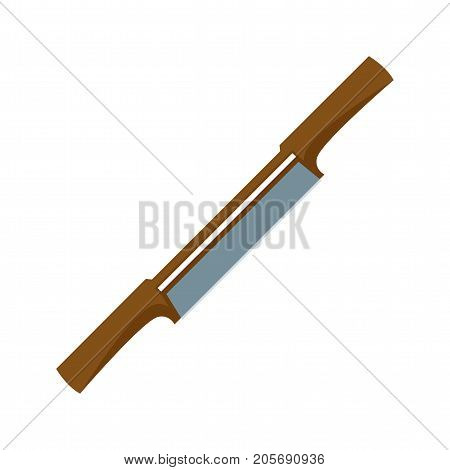 Spokeshave, carpentry, scraper icon vector image. Can also be used for Hand Tools. Suitable for use on web apps, mobile apps and print media.