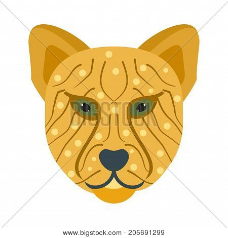 Cheetah, safari, kenya icon vector image. Can also be used for Animals Faces. Suitable for mobile apps, web apps and print media.