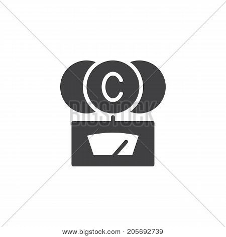 CO2- gauge icon vector, filled flat sign, solid pictogram isolated on white. Symbol, logo illustration.