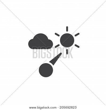 Barometer icon vector, filled flat sign, solid pictogram isolated on white. Symbol, logo illustration.