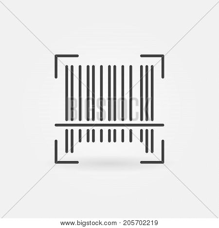 Vector barcode concept outline icon or design element