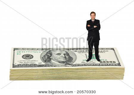Businessman On Money