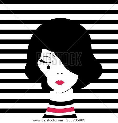 Fashion Girl Crying