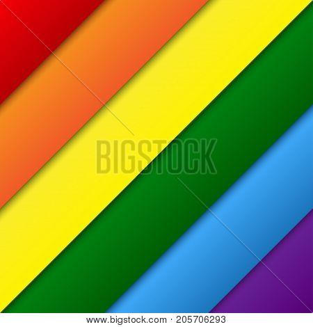 Vector Diagonal LGBT Elements Background. Lgbt Rainbow Flag. Gay Colors. Gay Community Symbol. Vector Background.