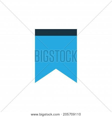 Premium Quality Isolated Pennant Element In Trendy Style.  Bookmark Colorful Icon Symbol.