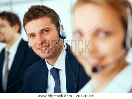 Closeup Of A Businessman With Headset