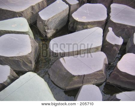 Stepping Stones Water Feature In Manchester, England